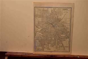 1895 Map of Minneapolis