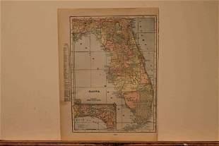 1892 Map of Florida