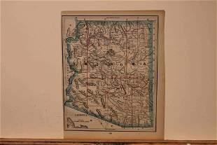 1892 Map of Arizona