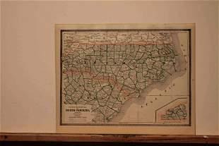 1886 Map of North Carolina