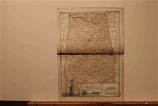 1902 Map of Alabama