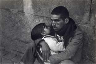 HENRI CARTIER-BRESSON - Unemployed Man, Child, 1933