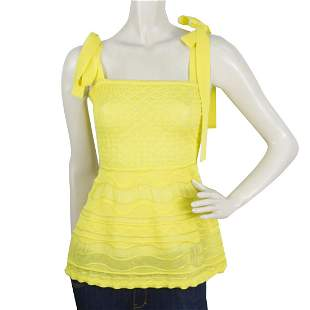 Missoni bright Yellow Sleeveless Cotton blend Top Sz 40