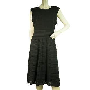 M Missoni Black Sleeveless knee Length knit Dress size