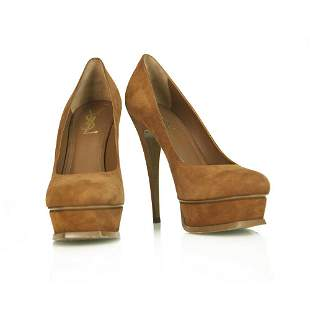 Yves Saint Laurent YSL Tribute TRIBTOO suede Round toe