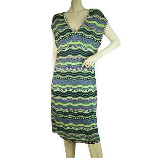 M Missoni Multicolor Signature Waves knee Length knit