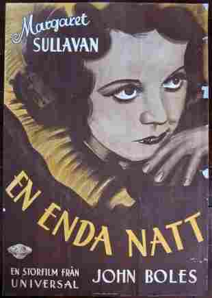 ONLY YESTERDAY - ORIGINAL 1933 SWEDISH LB POSTER - RARE