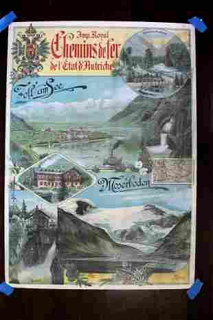 Chemins De Fer - Moserboden - Art by J. Politzer (1921)