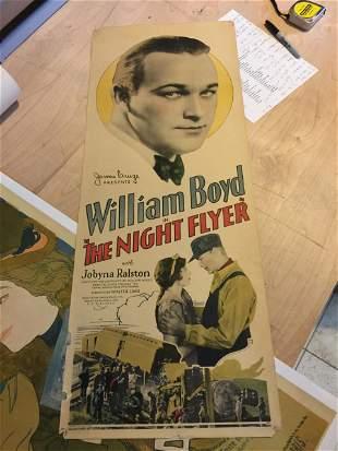 The Night Flyer - William Boyd (1928) US Insert Movie