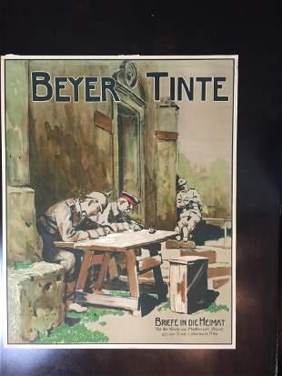 """Beyer Tinte - Art by Ernst Liebermann (1916) 23.5"""" x"""