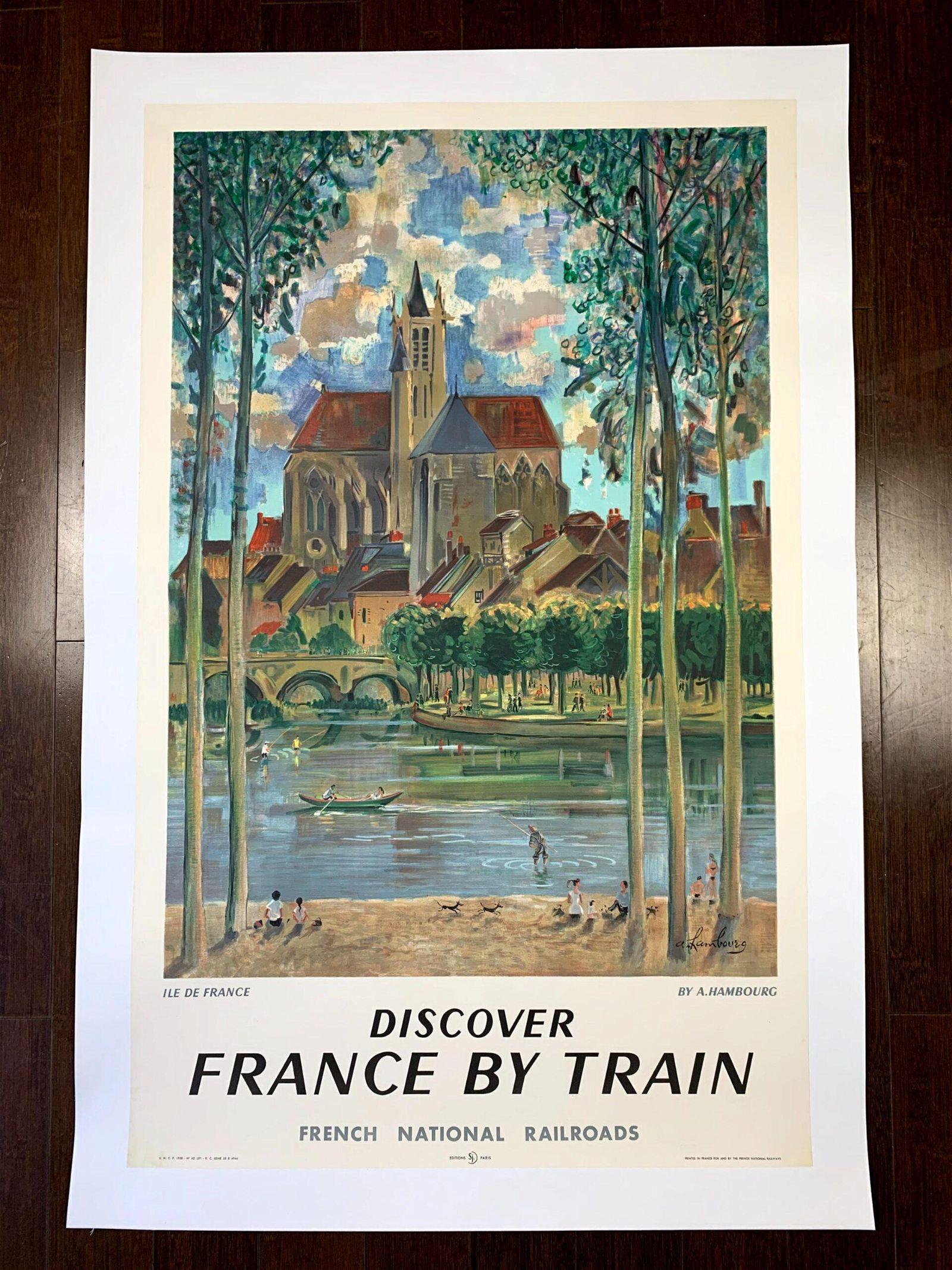 France by Train - Ile De France - Art by A. Durel