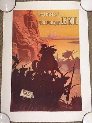 SOLDATS! JE NE FUME QUE LE NIL - ORIGINAL 1920'S FRENCH