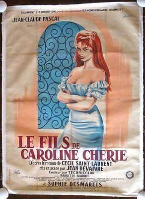 REDUCED 150!! SON OF DEAR CAROLINE-ORIGINAL 1955 FRENCH