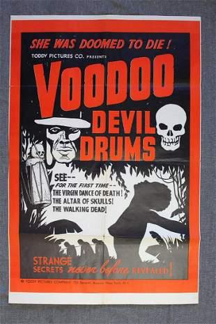 Voodoo Devil Drums (1944) US One Sheet Movie Poster