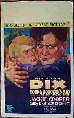YOUNG DONOVAN'S KID 1931 WINDOW CARD POSTER ~ RICHARD