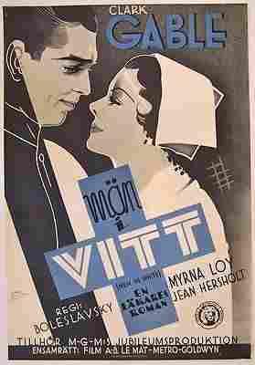 PRICE CUT 150! MEN IN WHITE 1934 SWEDISH 1 SHEET -