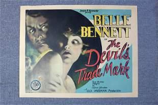 The Devil's Trade Mark (1928) US Half Sheet Movie