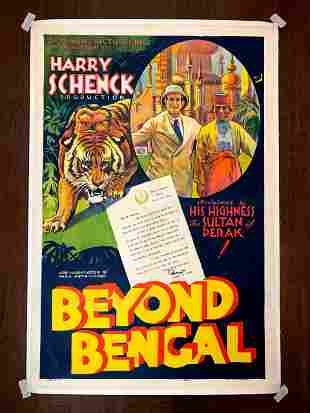 Beyond Bengal - Harry Schneck (1934) US One Sheet Movie