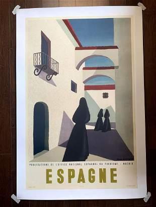 "Espagne - Art by Guy Georgette (1950's) 24.25"" x 38.5"""
