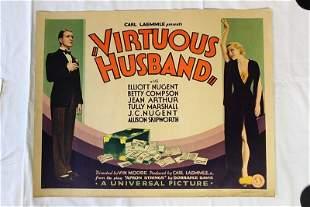 Virtuous Husband (USA, 1931) Half Sheet Movie Poster