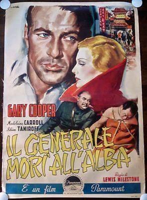 THE GENERAL DIED AT DAWN - R57 ITALIAN LB 4 FOGLIO -