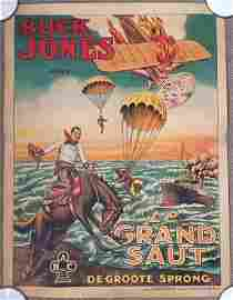 BUCK JONES LE GRAND SAUT - ORIGINAL 1920 BELGIAN