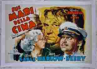 CHINA SEAS -ORIGINAL 1935 ITALIAN LB POSTER- COOL GABLE