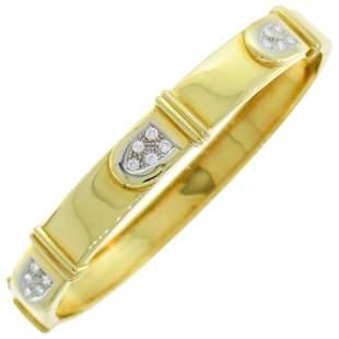 Cartier Diamond Yellow Gold Bangle Bracelet