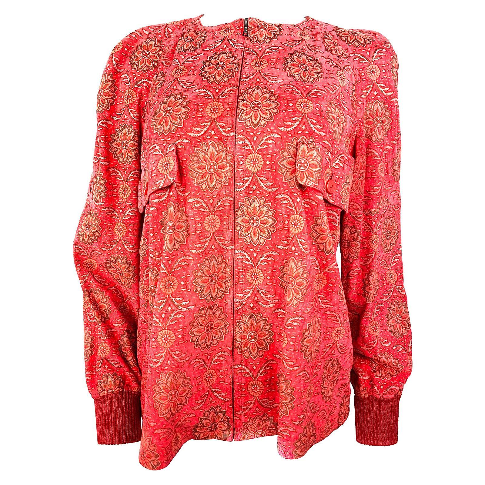 Valentino Red Suede Jacket Size 42