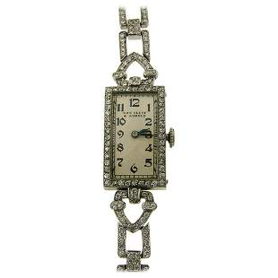 Van Cleef & Arpels Ladies Art Deco Wristwatch Platinum