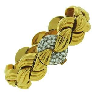 Van Cleef & Arpels Diamond Yellow Gold Ladies