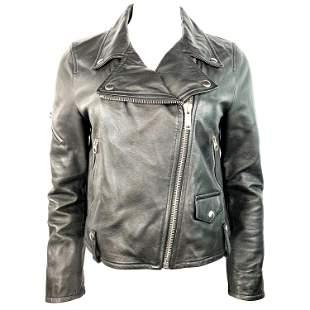 Golden Goose Deluxe Brand Black Calf Leather Jacket