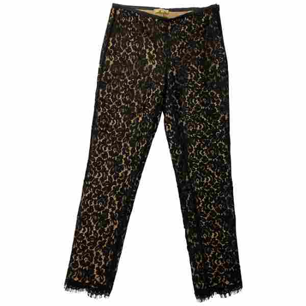 Michael Kors Collection Black and Beige Lace Skinny