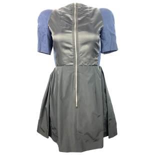 Vintage Carven Navy and Black Short Sleeve Mini Dress