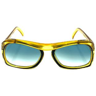 Vintage Christian Dior Green and Yellow Square