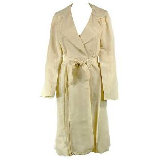 2006 LANVIN Cream/ Ivory Linen Coat Size 40