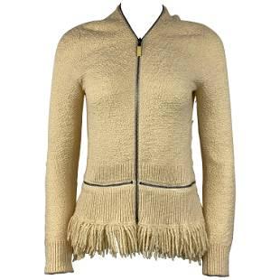 Alexander McQueen Ivory/ Cream Sweater Cardigan Top,