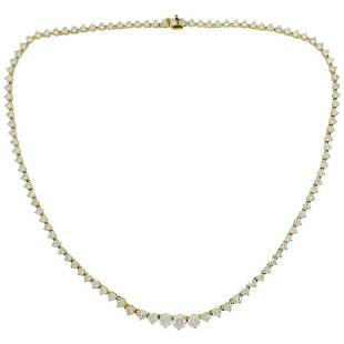 Vintage Diamond Yellow Gold Riviere Necklace
