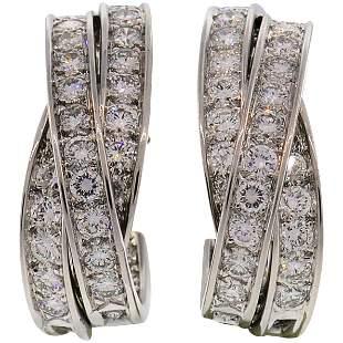 Cartier Trinity Diamond White Gold Hoop Earrings