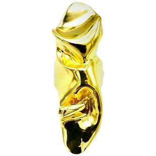 Artisan 14 Karat Yellow Gold Fluid Ring