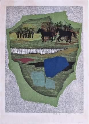 Fumio Fujita: Meadow and Horses C