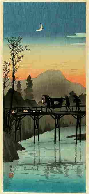 Takahashi HIROAKI (Shotei): Travellers crossing the