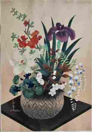 Ohno: Basket of Flowers with Iris