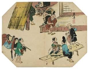 Shibata ZESHIN: Tea-house in the countryside- an