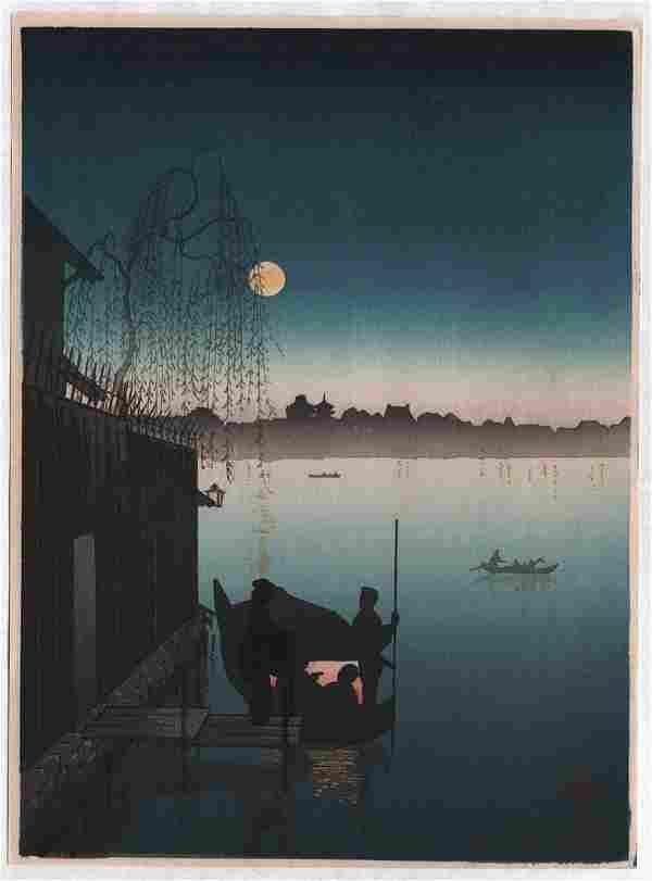 Koho: Night Series: Lake Biwa (Blue toned impression)
