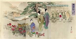 Ogata GEKKO: Chrysanthemum at Kiku