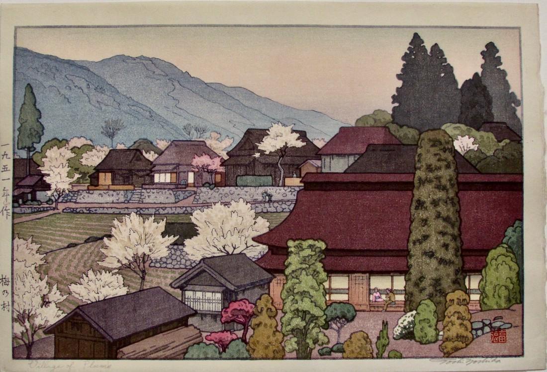 Toshi Yoshida: Village of Plums