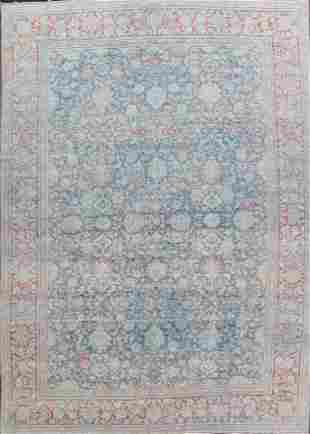 Pre-1900 Antique Vegetable Dye Sultanabad Persian Rug