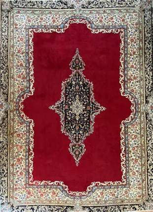 Antique Persian Kerman Rug, 10�10� x 7�6�, Wool
