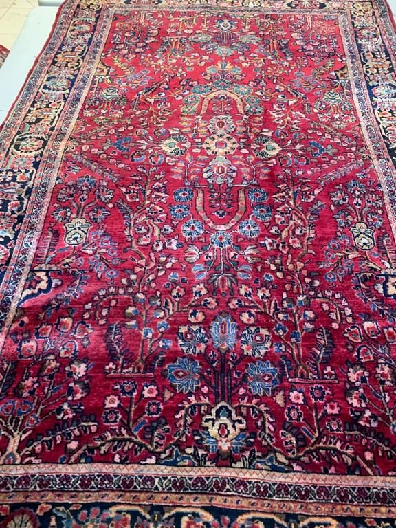 Hand Knotted Persian Sarouk 4x7 ft